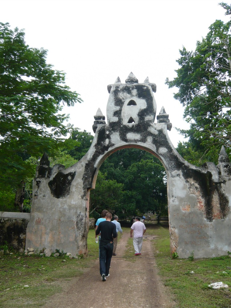 entering the hacienda