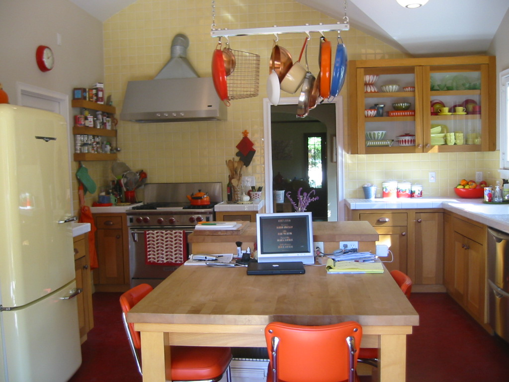 my kitchen is my world; I design, blog, cook, talk, plan, chill - all from here