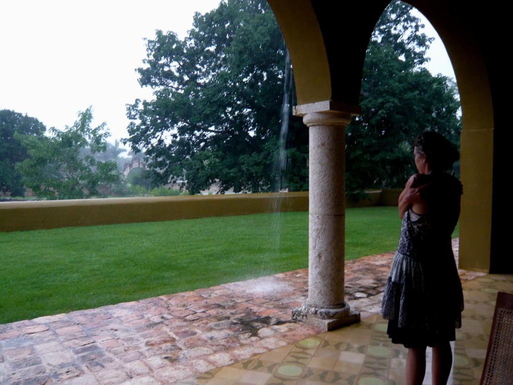 the rain ...