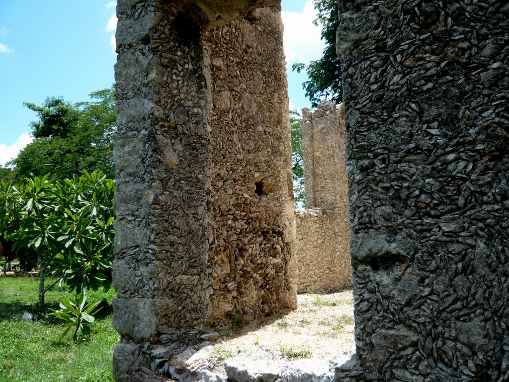a ruin left intact and preserved - check out the intricate stonework
