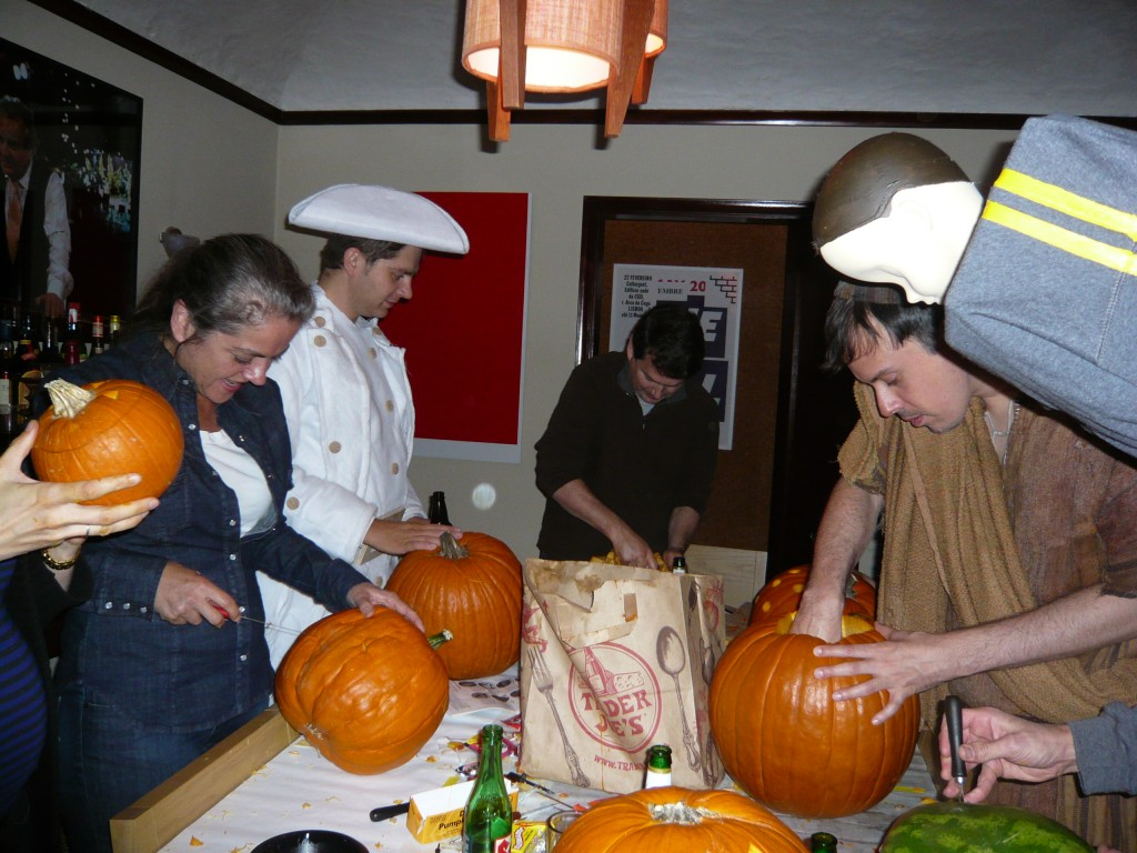 who doesn't want an excuse to stab a gourd while costumed?