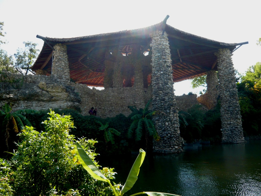 the beautiful stone pavilion at the sunken gardens - memories!