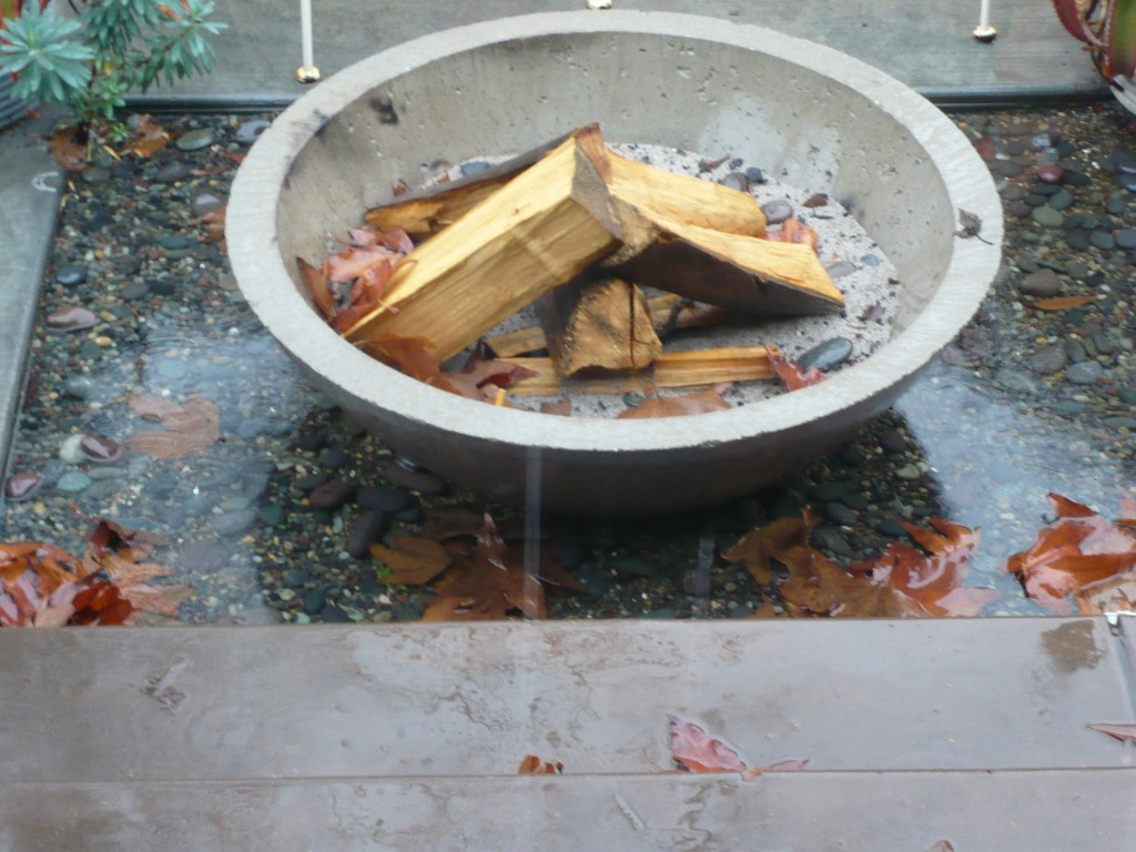 my newly renovated (and stinkhorn-free) firepit is close to floating away