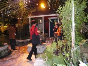 this courtyard garden inspired by New Orleans was a big hit - I wish I had better pictures! Great use of plants...