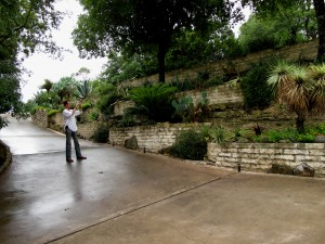 Philip/ESP admires the terraces - just checkout that stonework!